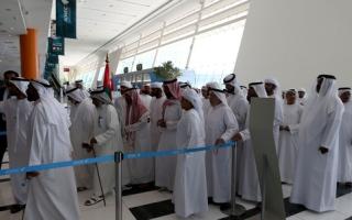 الصورة: النقل الجماعي للناخبين سمة اليوم الأخير من «التصويت المبكر» في دبي