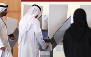 الصورة: النساء يتصدرن الناخبين في أم القيوين