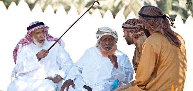 سالم بن غبيشة الراشدي وصديق عمره ورحلاته سالم بن كبينة.  أرشيفية