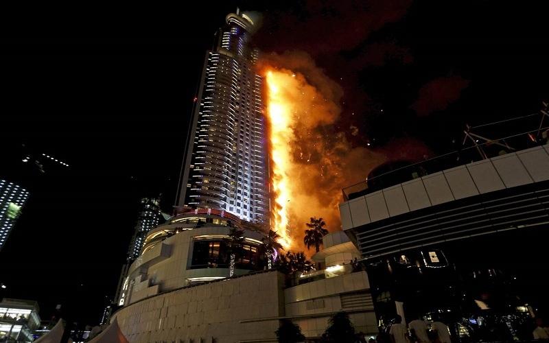 """الصورة: بالفيديو..النقطة التي بدأت منها نيران حريق """"العنوان"""""""