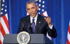 الصورة: أوباما يتعهد بملاحقة «داعش» في ليبيا