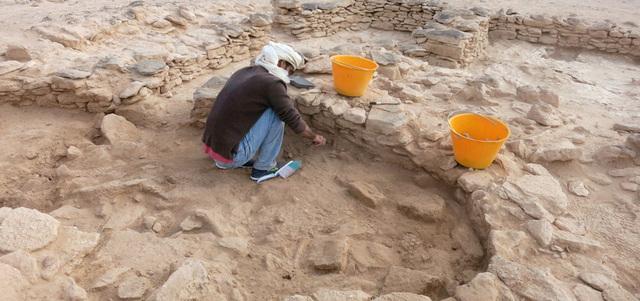 أسفرت الحفريات التي قامت بها الهيئة عن جمع ما يزيد على 200 من نصال الأسهم المصنوعة من الحجر الصوان من على سطح الأرض في الموقعين. من المصدر
