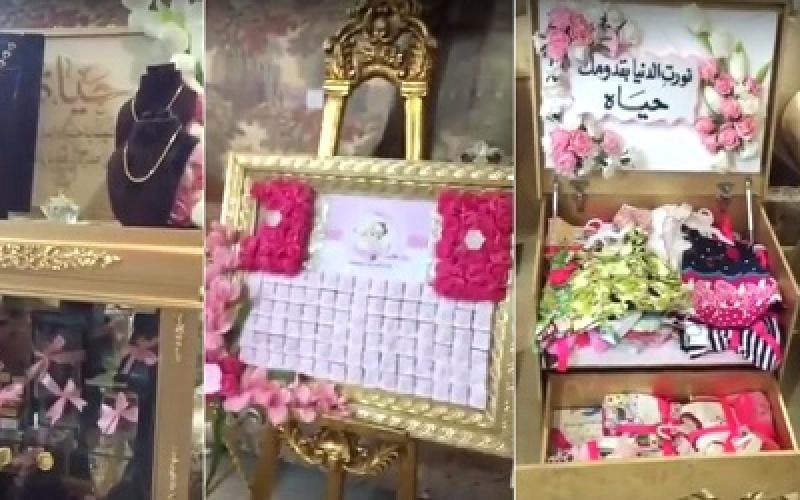 خليجية تسمي طفلتها على اسم صديقتها.. شاهد بالفيديو الهدايا التي حصلت عليها!!!