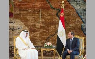 محمد بن زايد يؤكّـــــد وقـوف الإمارات مع مصر وشعبها في مكافـحة الإرهاب