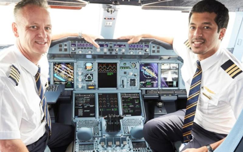 الصورة: بالفيديو ...شاهد قمرة قيادة الأيرباص A380