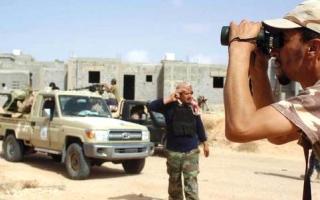 الصورة: القوات الليبية تحقق تقدماً واسعاً في سرت