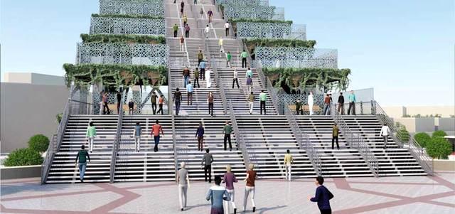 """الشكل المفترض لـ """"درج دبي"""" والذي لم يتم تحديد موقع بنائه بعد"""