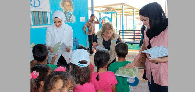 وفد من «فن» يزور «الزعتري» لدعم الأطفال اللاجئين
