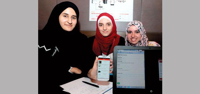 3 طالبات يبتكرن تطبيقاً ذكياً للاستبيانات الإلكترونية