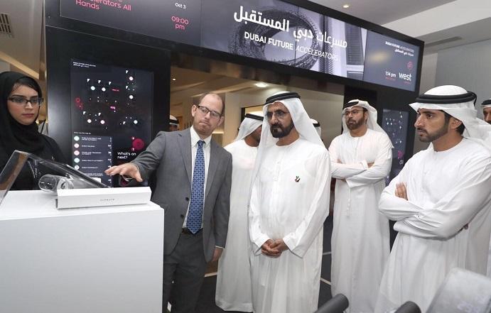 محمد بن راشد يفتتح المقر الرئيسي لمسرعات دبي