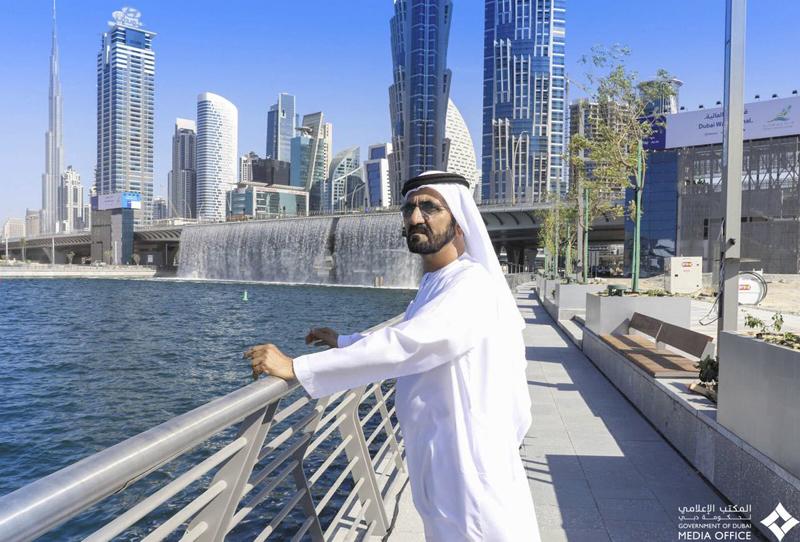بالفيديو..محمد بن راشد يفتتح  مشروع قناة دبي المائية - الإمارات اليوم