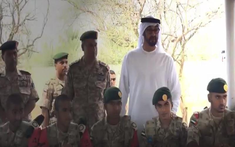 الصورة: بالفيديو.. محمد بن زايد يعرب عن فخره و اعتزازه لمنتسبي وخريجي الخدمة الوطنية