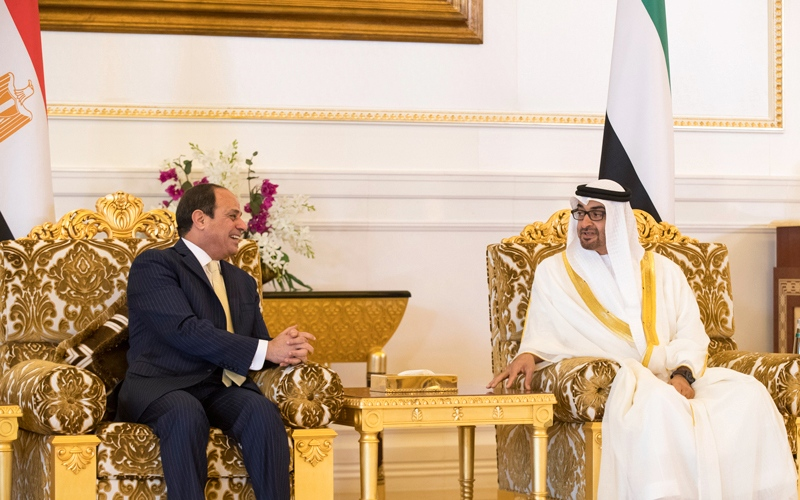 محمد بن زايد: الإمارات تعمل باستمرار على تعزيز علاقاتها التاريخية مع مصر
