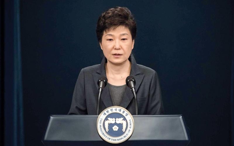 المعارضة تقدم مذكرة برلمانية لإقالة رئيسة كوريا الجنوبية