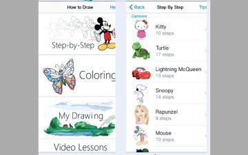 How to Draw.. للرسم والتلوين وحفظ الصور وتشاركها عبر «فيس بوك»