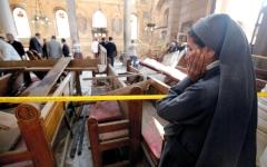 الصورة: 25 قتيلاً بتفجير إرهابي استهدف الكاتدرائية المرقسية بالقاهرة