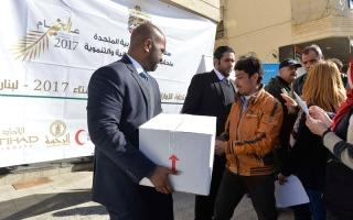 انطلاق المرحلة الأولى من «حملة الاستجابة الإماراتية للنازحين السوريين - شتاء 2017» في لبنان