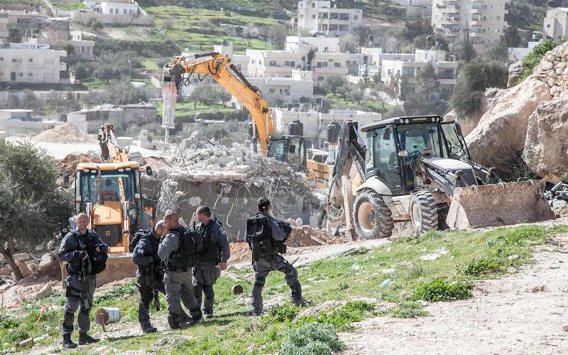 جرافات الاحتلال تواصل هدم بيوت الفلسطينيين ضمن سياسة ممنهجة. الإمارات اليوم