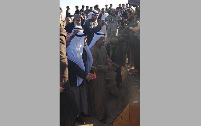 سفارة الدولة لدى أفغانستان تنشر صورا لإحتفال وضع حجر الاساس لدار خليفة بن زايد لرعاية الأيتام