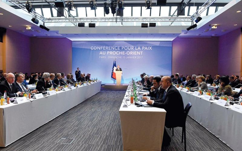 مؤتمر باريس للسلام يحشد لحل الدولتين