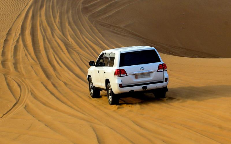 سفاري دبي.. محاكاة لإرث البدو وتحدي الكثبان الرملية