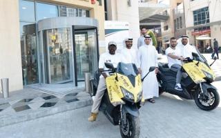 بالفيديو.. دراجات نارية لحل شكاوى المستهلكين في دبي