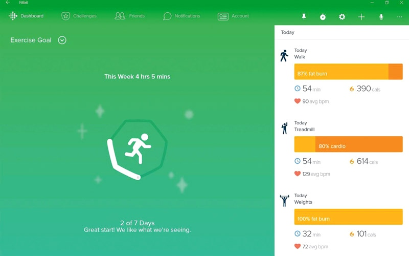 Fitbit.. لتتبع أنشطة المستخدم اليومية وتغذيته وحالته الصحية