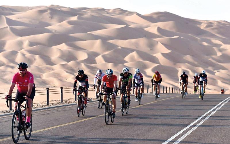 500 متسابق في سباق ليوا المجتمعي للدرّاجات الهوائية