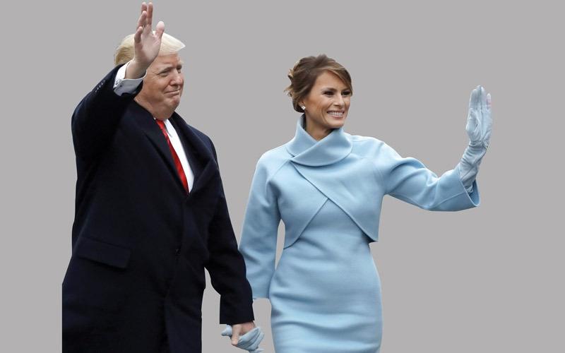 ترامب خرج من السيارة الرئاسية لتحية الحشود