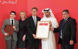 محمد بن زايد يشهد مراسم توقيع اتفاقية استضافة «الأولمبياد الخاص 2019»