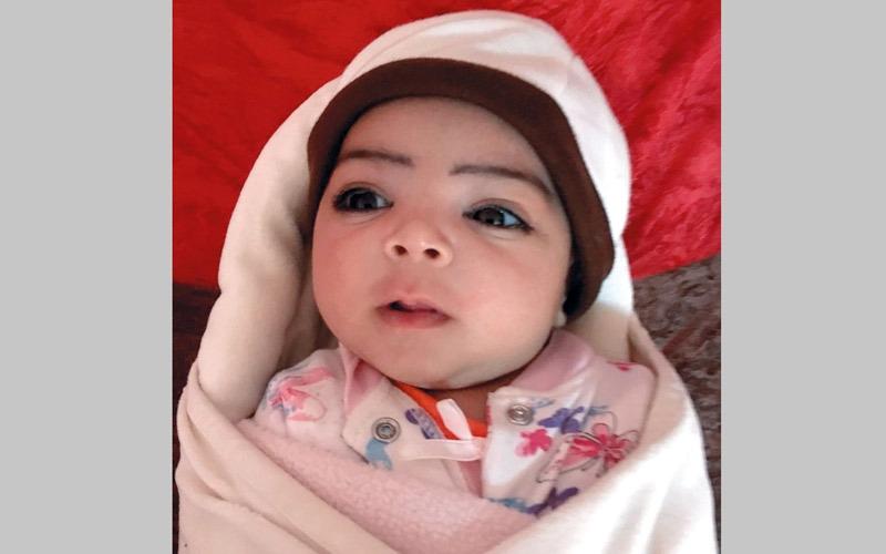 أربعة متبرعين يسددون 30 ألف درهم لعلاج الرضيعة «خديجة»