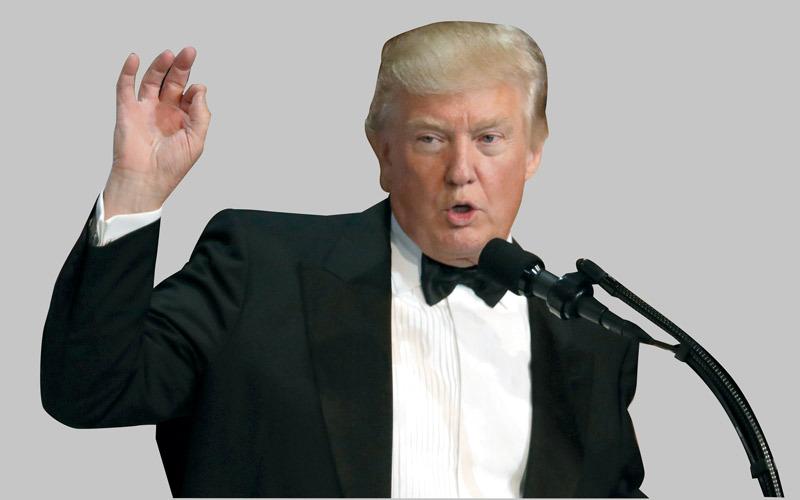 ترامب أعلن احتقاره صراحة لأعضاء حلف الناتو. أ.ف.ب