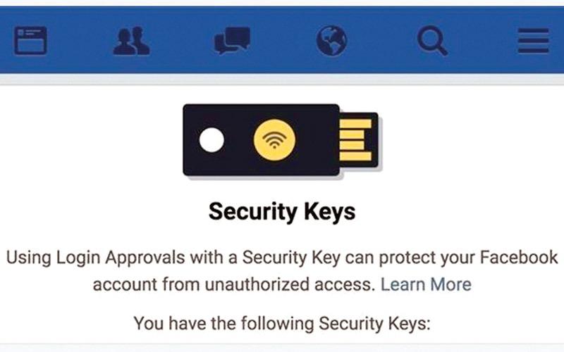 الصورة: «فيس بوك» يتيح تسجيل الدخول بوحدة USB