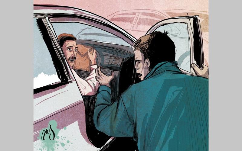 3 عاطلين يسرقون «غلة» سائق في الظلام
