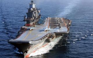 نشر حاملة الطائرات الروسية أمام شواطئ سورية كلف موسكو 170 مليون دولار