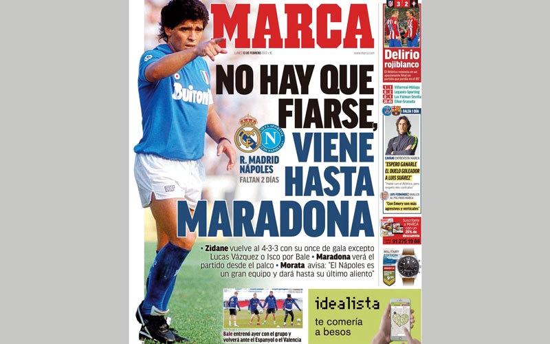 صحف عالمية : «مارادونا سيأتي»