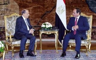 الصورة: السيسي يعرض على عون دعم الجيش اللبناني