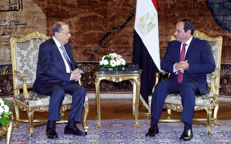 السيسي يعرض على عون دعم الجيش اللبناني