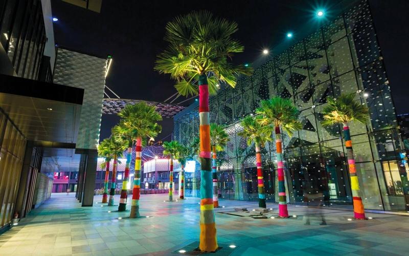 «سيتي ووك» تتحوّل إلى لوحة فنية  خلال مهرجان «دبي كانْفَس»