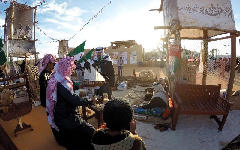 جناح الإمارات في «الجنادرية».. البرجيل يضيء على التراث