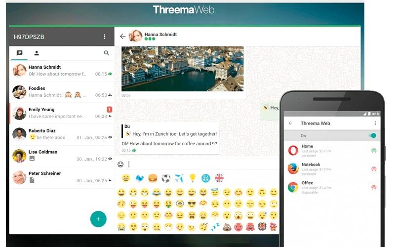 الصورة: تطبيق Threema يصل إلى الحواسب المكتبية