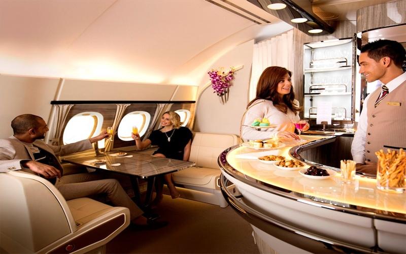 """الصورة: بالفيديو.. تصميم جديد للصالون الجوي على طائرات الإمارات """"A380"""""""
