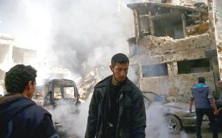 قصف مكثف للنظام على   إدلب وحمص والغوطة الشرقية