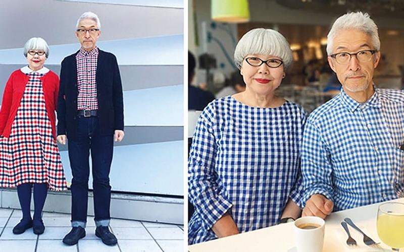 زوجان يابانيان يوطدان علاقتهما بأزياء متناسقة