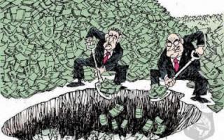 """الصورة: """"حفرة المال"""" .. السر العظيم في جزيرة البلوط الكندية"""