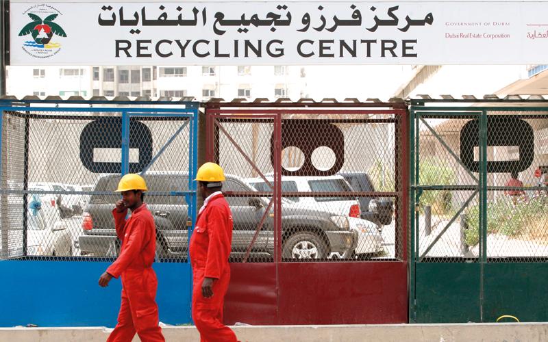 42% من النفايات العامة تنتج من القطاع التجاري. من المصدر