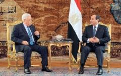 الصورة: السيسي وعباس يؤكدان أهمية تسوية أزمات المنطقة