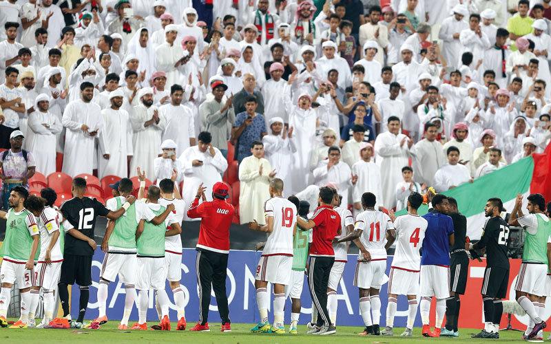 دعم الجمهور يمثل الحافز الأكبر للاعبي المنتخب. تصوير: إريك أرازاس