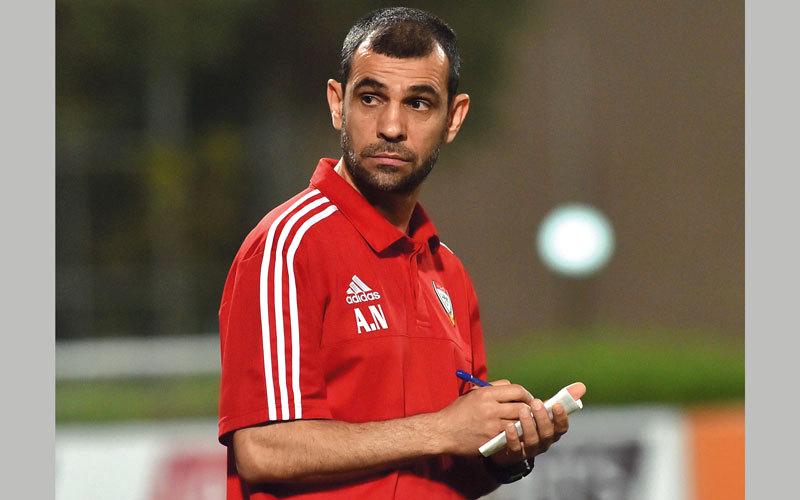 مدرب المنتخب الأولمبي عبدالمجيد النمر. من المصدر