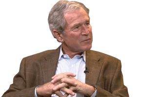 جورج بوش الابن يُدهش نقاد الفن برسومه البارعة